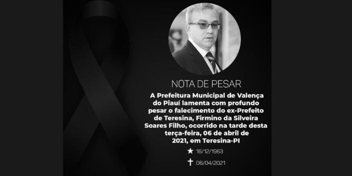 Prefeitura de Valença lamenta a morte do ex-prefeito