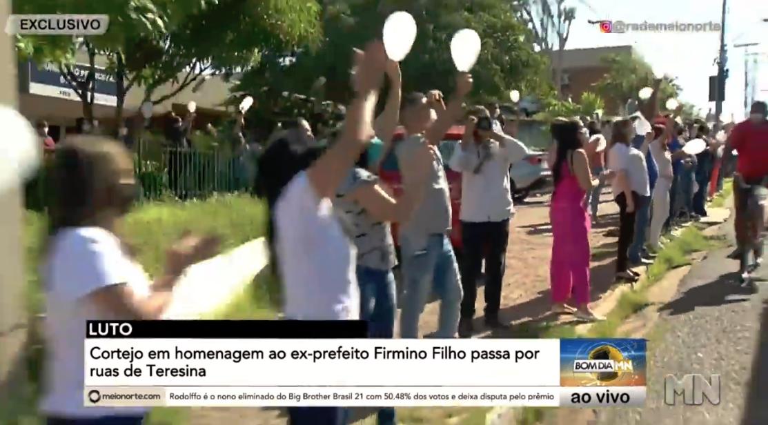 Teresinenses prestam últimas homenagens a Firmino Filho - Foto: Reprodução/Rede MN