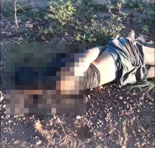 Homem foi encontrado morto com pés e mãos amarradas em Timon (Foto: Reprodução/ WhatsApp)