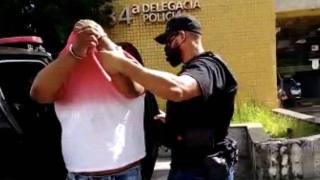 Momento da prisão de Roberto Costa Júnior. (Foto: Reprodução)