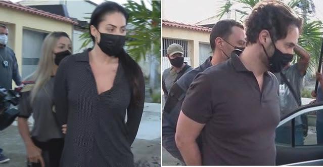 Monique e Dr. Jairinho foram presos na manhã de hoje - Foto: Reprodução