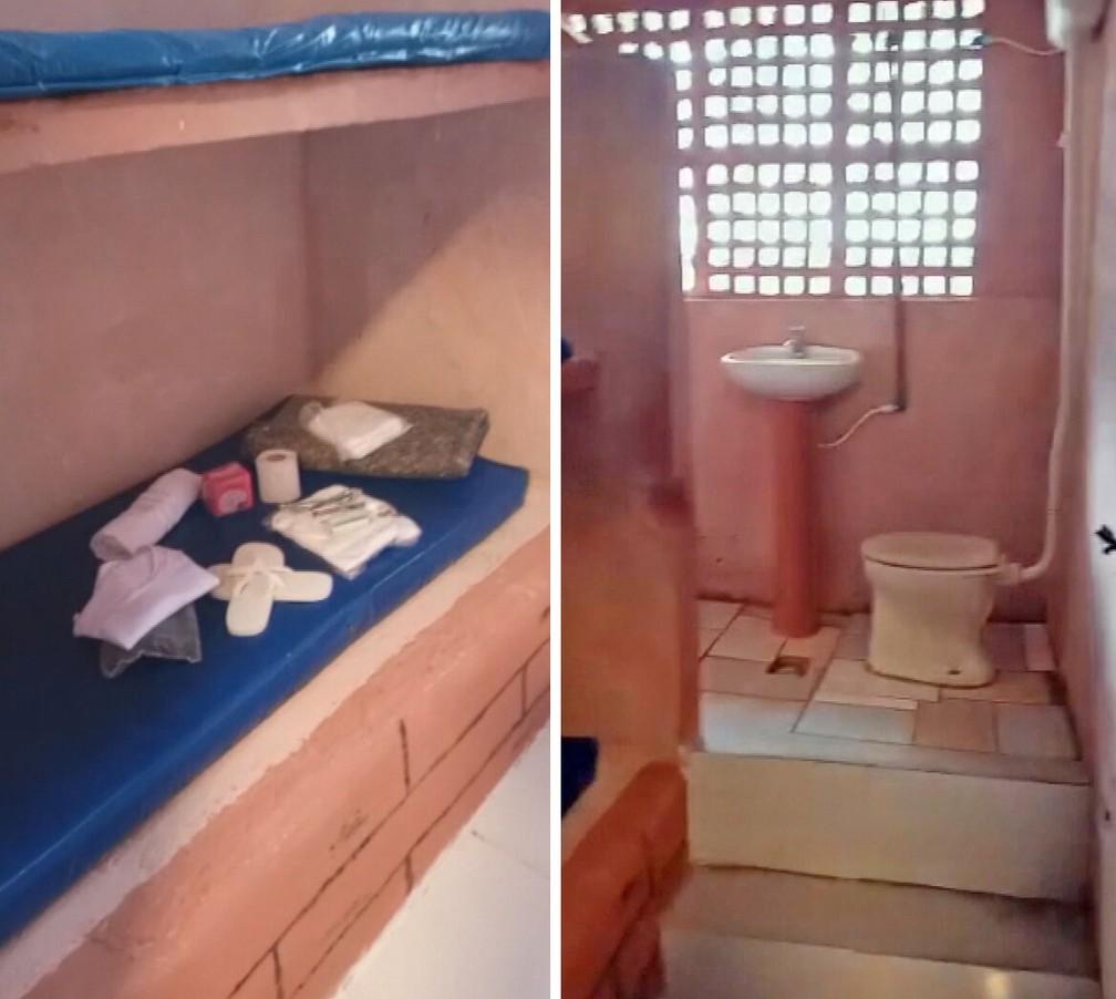 Detalhes da cela onde Monique está presa no Rio - Foto: Reprodução