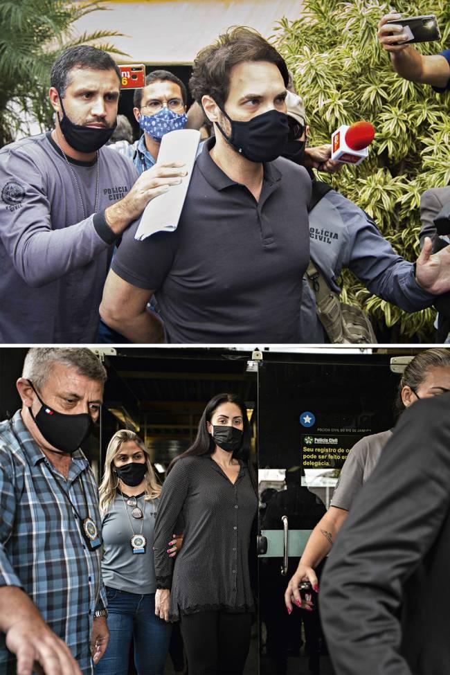 Dr Jairinho e Monique foram presos suspeitos da morte de Henry (Fotos: Vitor Brugger/AM Press & Images/Folhapress; Brenno Carvalho/Agência O Globo )