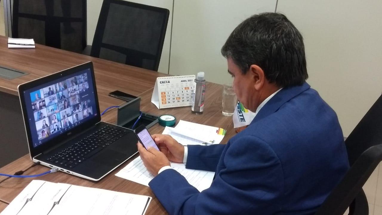 Wellington Dias em reunião com a ONU e a OMS (Foto: CCOM)