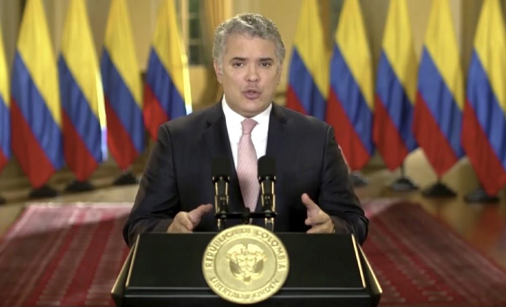 Iván Duque, presidente da Colômbia — Foto: UNTV via AP
