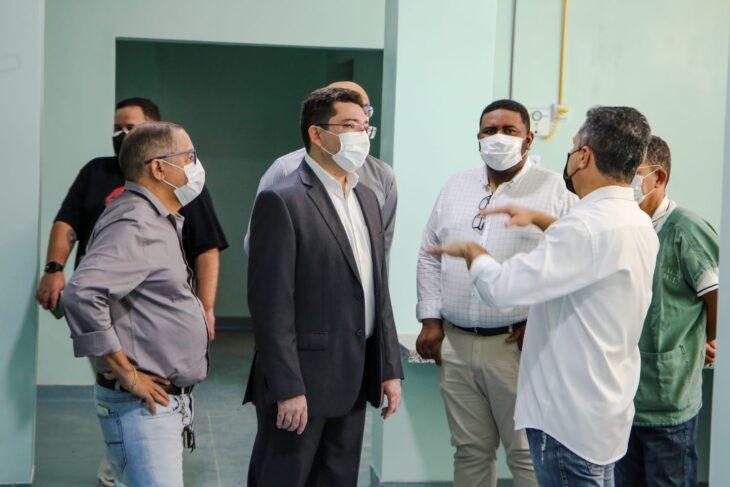 Secretário Ellen Gera avaliou estrutura do Hospital Infantil para receber salas de aula | FOTO: Divulgação