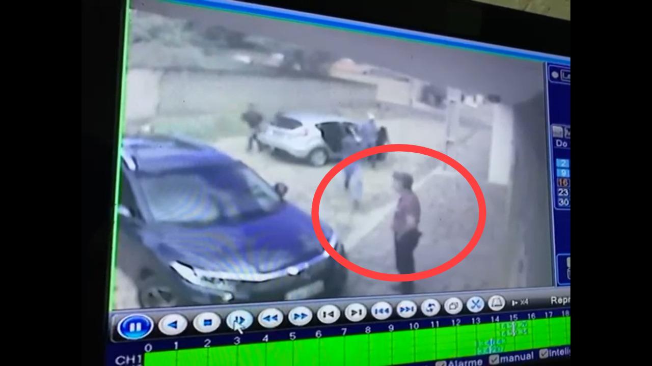 Vídeo mostra o momento em que delegado ds PF é baleado em Teresina (Foto: Reprodução/ Youtube)