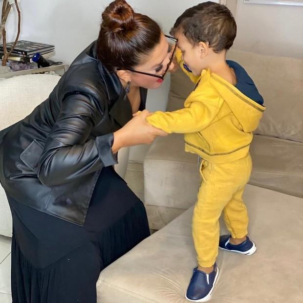 Mara Maravilha e o filho, Benjamim, que mudou a vida da apresentadora (Foto: Reprodução/Instagram)