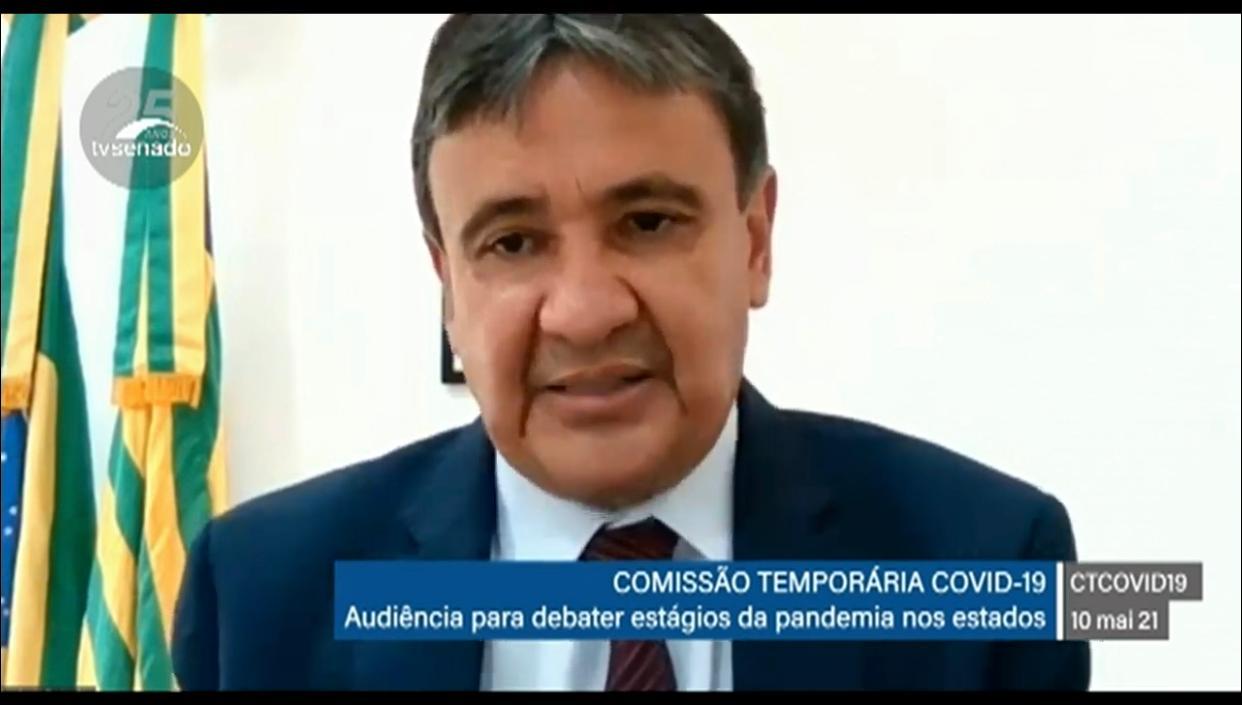 Governador Wellington Dias fala na comissão temporária da Covid-19 no Senado