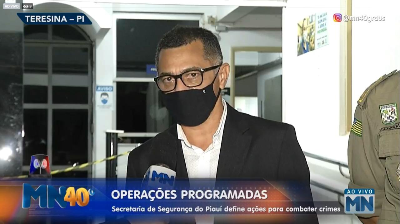 Secretário de Segurança Pública , coronel Rubens Pereira