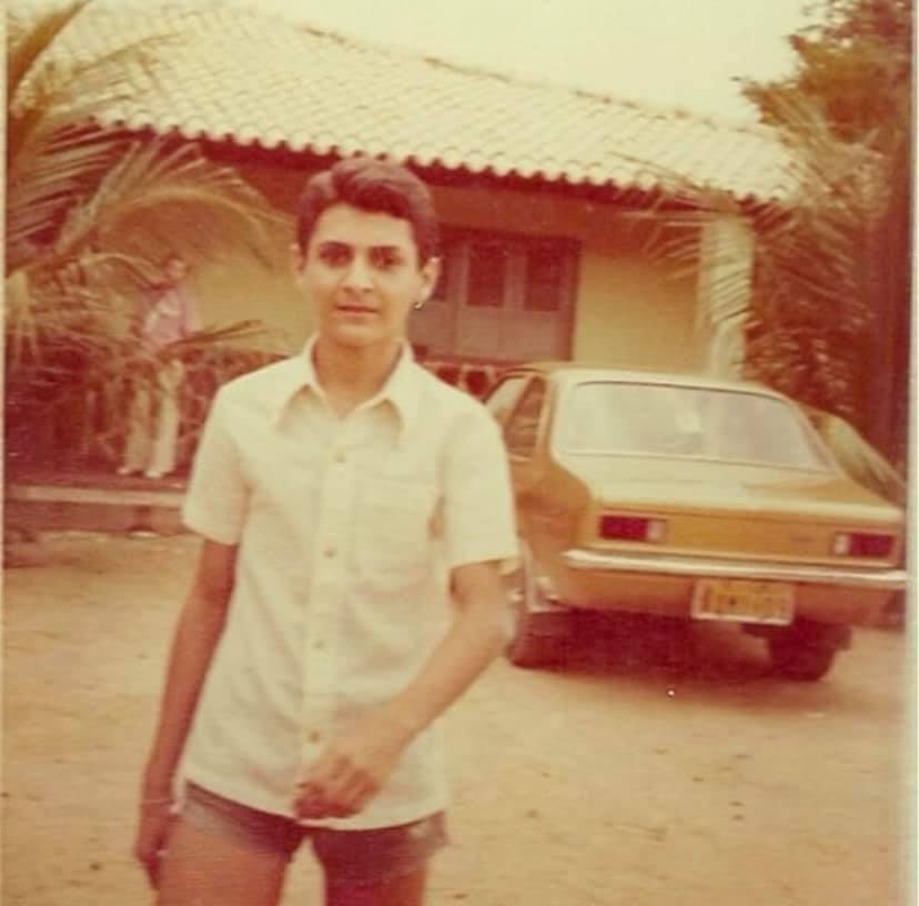 João Claudio Moreno quando jovem. Crédito: Facebook/Reprodução.