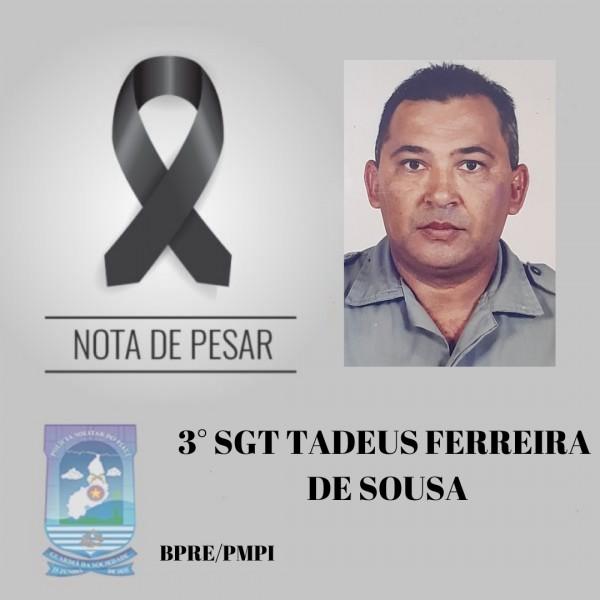Nota de pesar da Polícia Militar do Piauí (Foto: Divulgação)