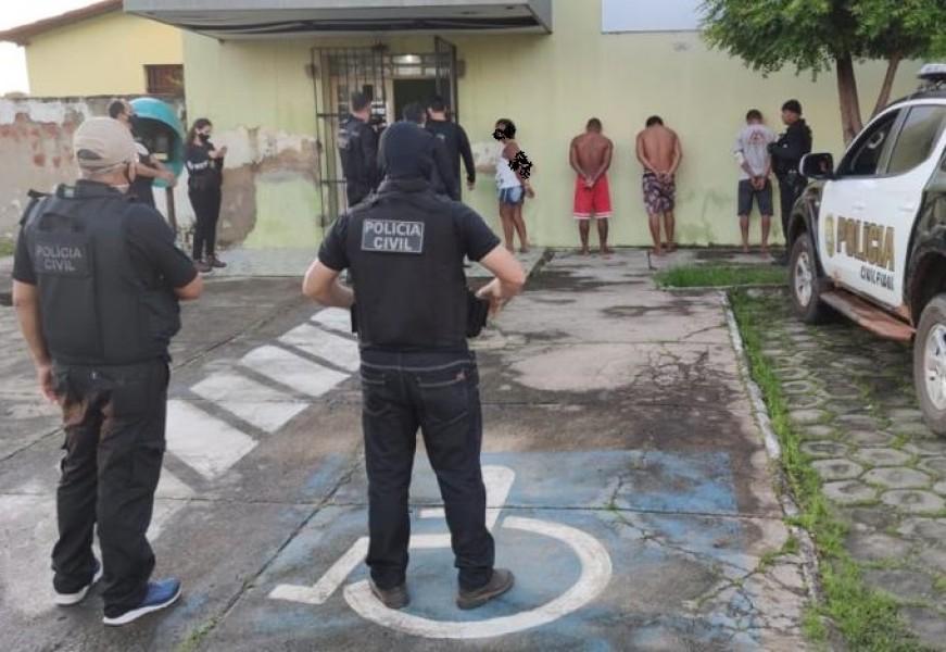 Acusados de roubo majorado são presos em Buriti dos Lopes (Foto: Divulgação)