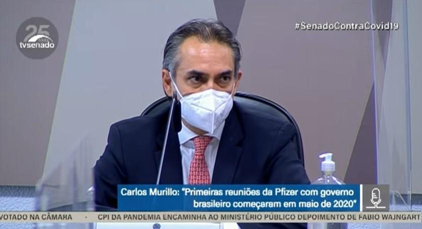 Gerente-geral da Pfizer para a América Latina, Carlos Murillo