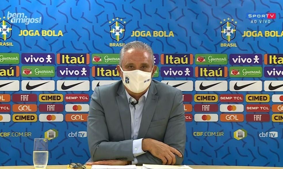 Tite convoca a Seleção para Eliminatórias da Copa nesta sexta-feira (14)- Foto: SportV