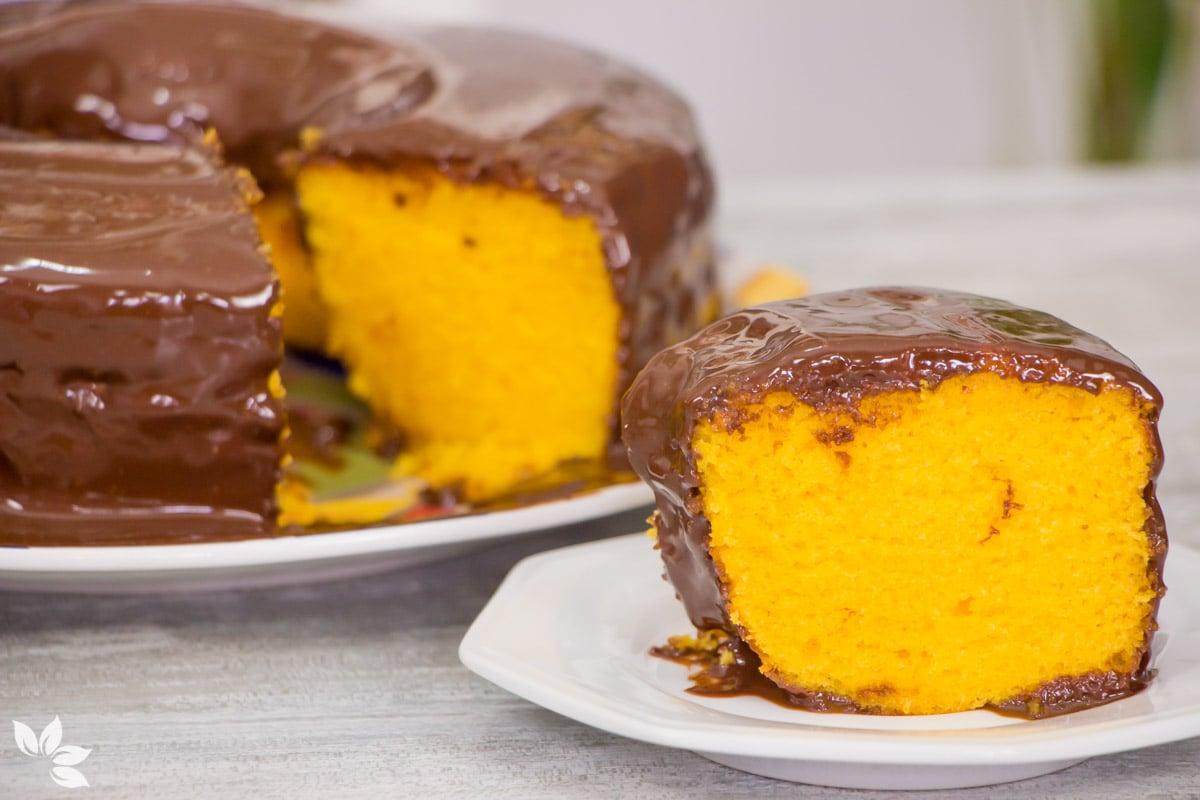 receita de um delicioso bolo de cenoura