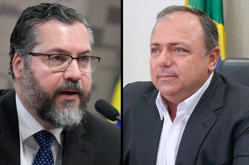 Ex-ministros Ernesto Araújo e Pazuello falarão à CPI (Senado)