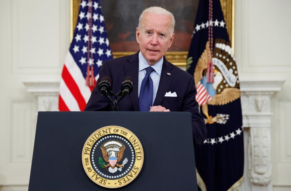 Presidente dos EUA, Joe Biden— Foto: Jonathan Ernst/Reuters