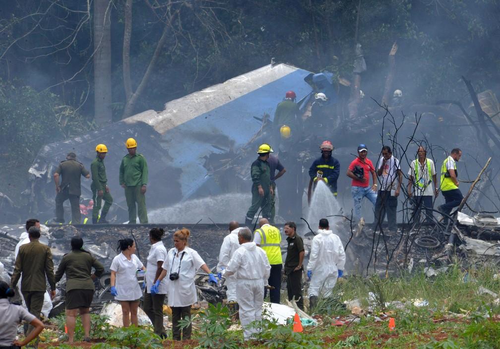 Acidente aéreo aconteceu em Cuba
