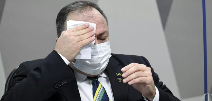 Ex-ministro da saúde, Eduardo Pazuello em depoimento na CPI da Covid-19 no Senado - Foto: Jefferson Rudy/Agência Senado