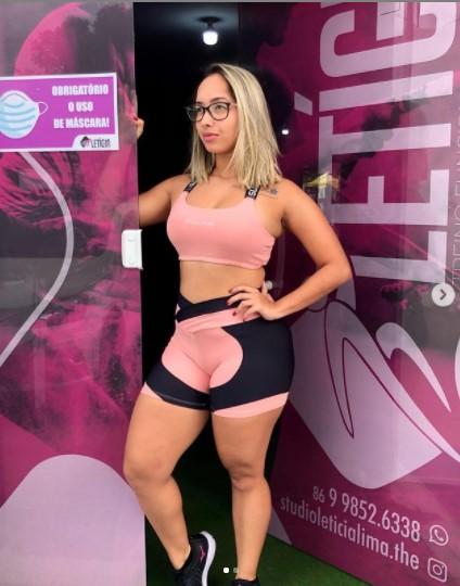 Empresária e personal trainer Letícia Lima