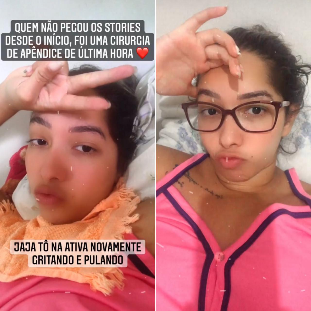 Personal publicou stories ainda no sábado afirmando estar se recuperando - Foto: Instagram