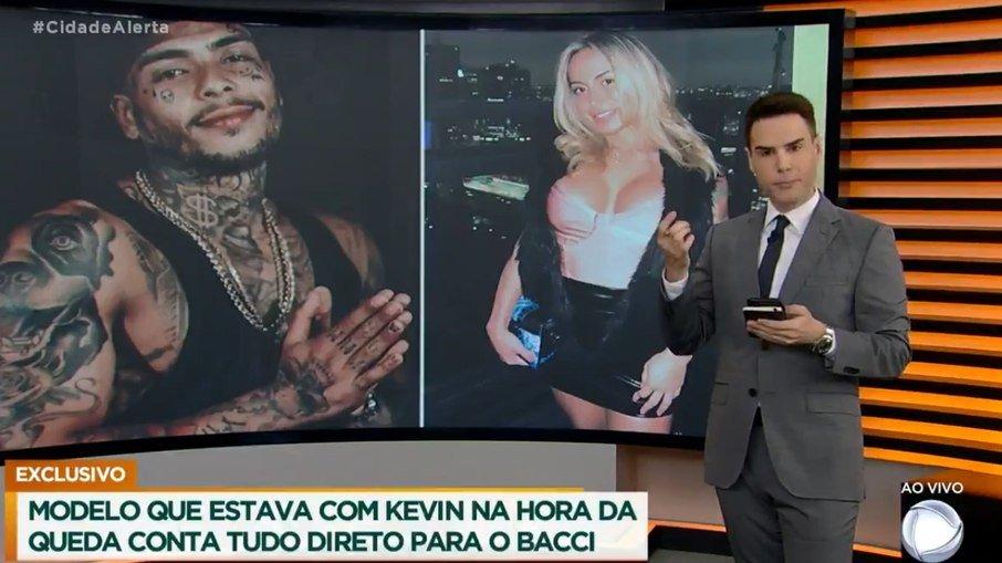 Luiz Bacci briga com modelo (Reprodução Record TV)