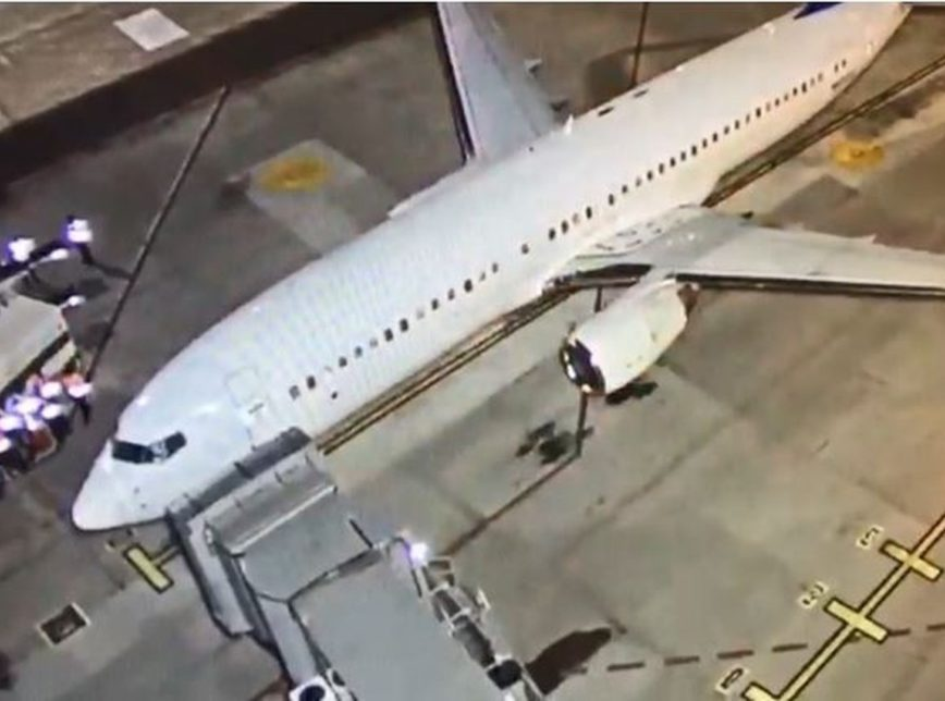 Aeronave fretada pelo governador norte-americano em Confins em outubro de 2019 (Foto: Polícia Federal)