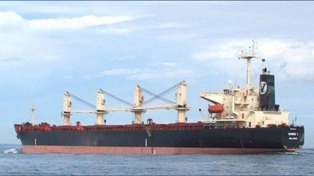 Navio com a bandeira de Hong Kong está ancorado em alto-mar e não tem permissão para atracar em nenhum porto do Maranhão - Foto: Reprodução