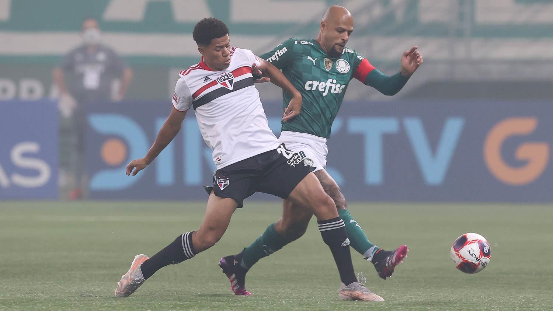 Palmeiras e São Paulo empatam sem gols no primeiro jogo da decisão do Paulista Foto: Cesar Creco