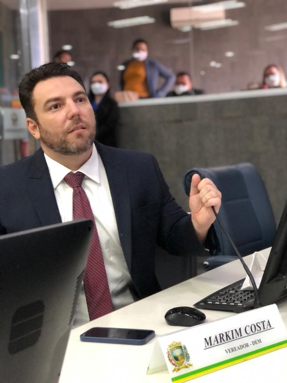 Vereador Markim Costa vai apresentar indicativo de Projeto de Lei