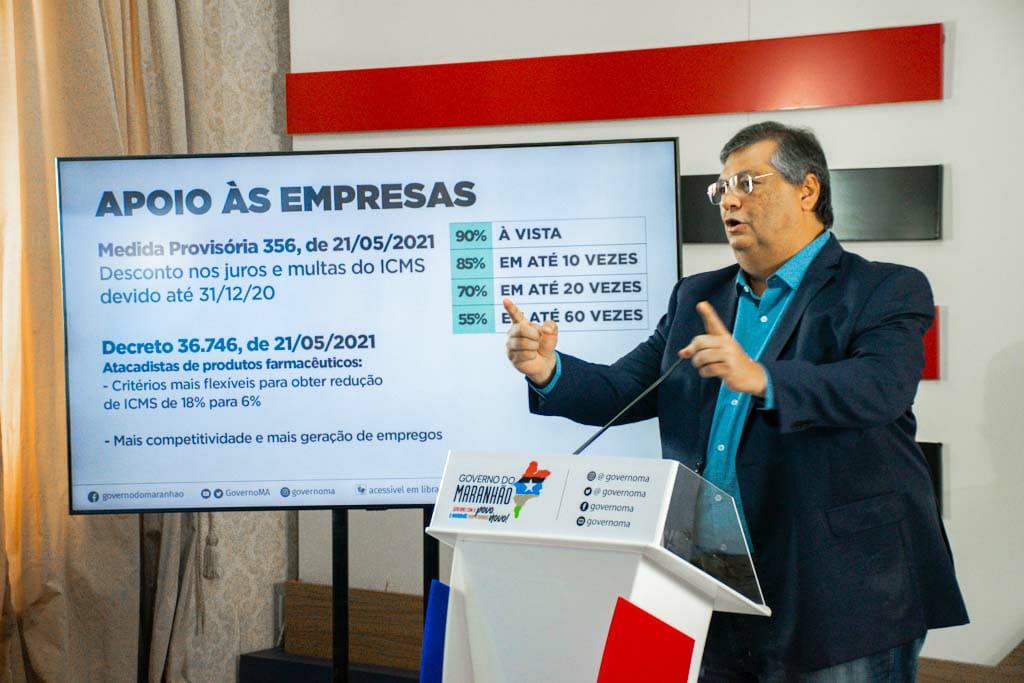 Flávio Dino mostra preocupação com possível disseminação da cepa indiana por falta de controle (Foto: CCOM MA)