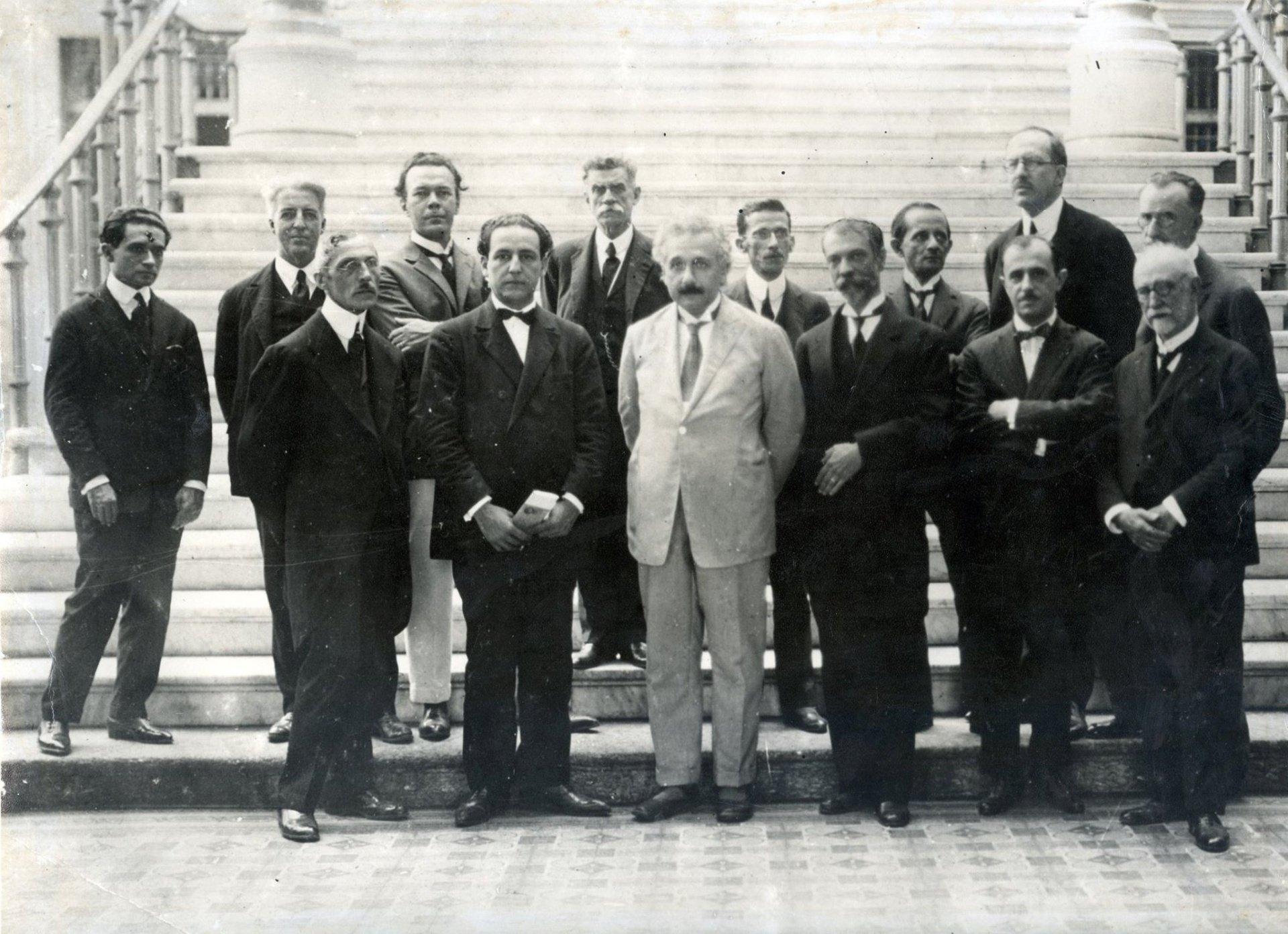 Albert Einstein em visita ao Brasil