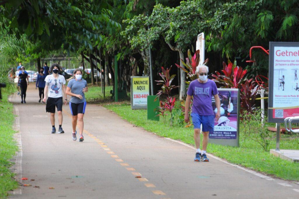 Atividades ao ar livre, individuais, estão permitidas em Timon| FOTO: Paulo H. Carvalho/Agência Brasília