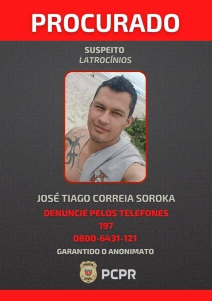 Thiago é procurado pela Polícia