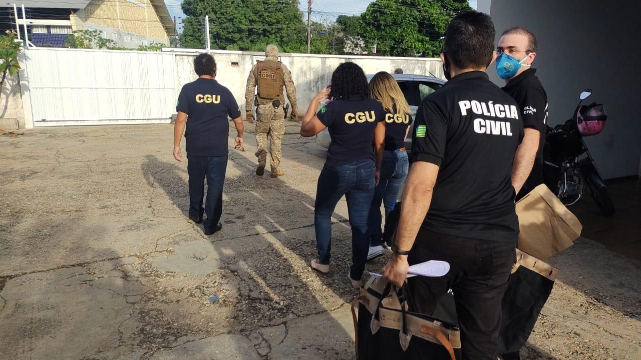 Operação investiga empresas, casas de empresários e agentes públicos - Foto: Divulgação/SSP-PI