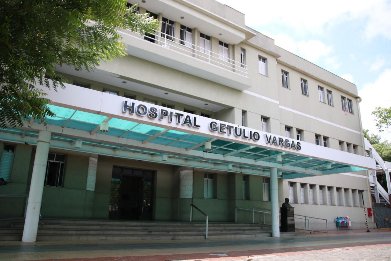 Hospital Getúlio Vargas tem 100% de ocupação de leitos de UTI Covid. Crédito: José Alves Filho.