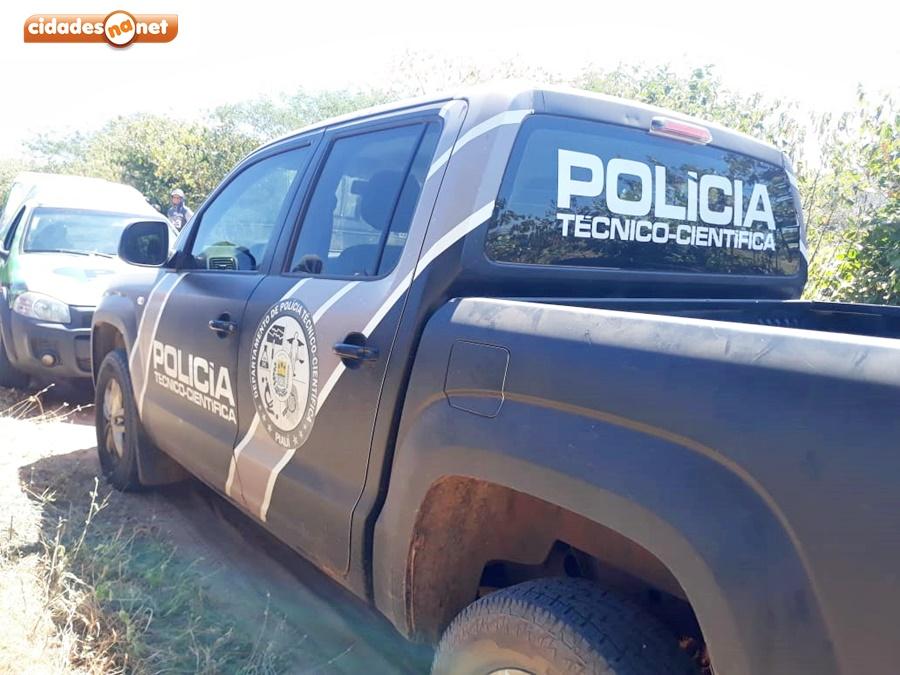 Polícia Técnico Cientifica é acionada ao local do crime (Foto: Cidades na Net)