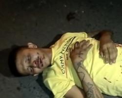 Acusado se fere durante tentativa de assalto e é abandonado pelo comparsa