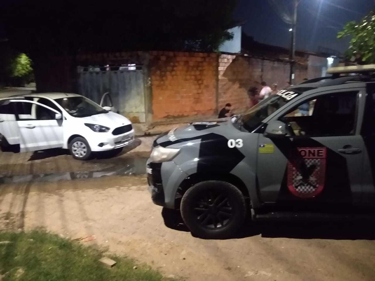 Motorista de aplicativo e passageiros presos no Mocambinho - Foto: Divulgação
