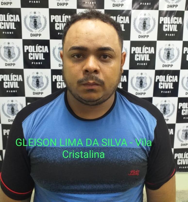 Gleison Lima da Silva foi preso na época na cidade de Campo Maior - Foto: Divulgação/Polícia Civil