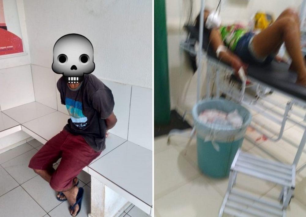 Mulher fica gravemente ferida após ser esfaqueada pelo próprio marido no Piauí (Foto: Reprodução/ Canal 121)