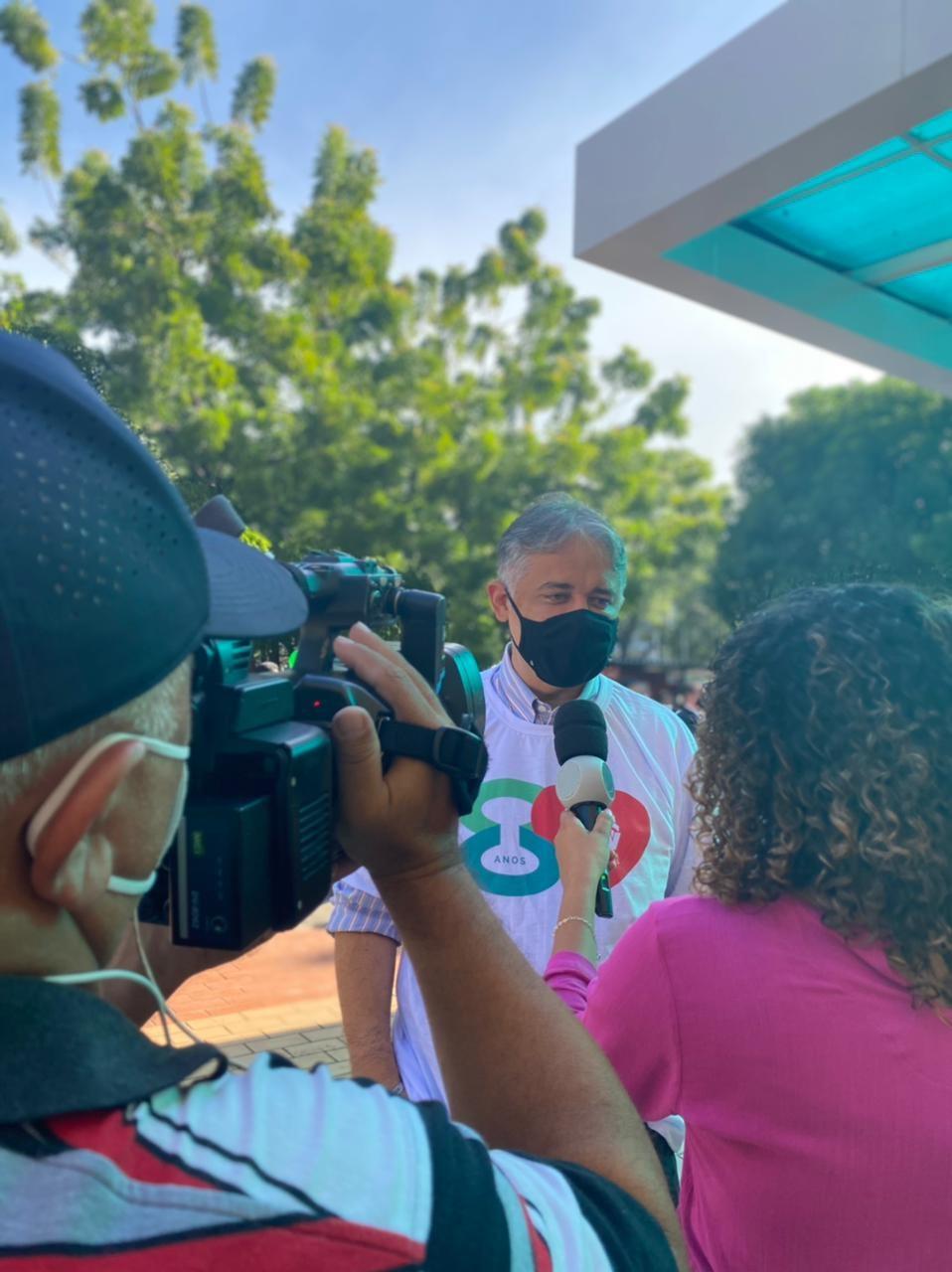 Ítalo Rodrigues, presidente da Fepiserh, celebra o início das cirurgias cardíacas no HGV, presvista para este mêsÍtalo Rodrigues, presidente da Fepiserh, celebra o início das cirurgias cardíacas no HGV, presvista para este mês