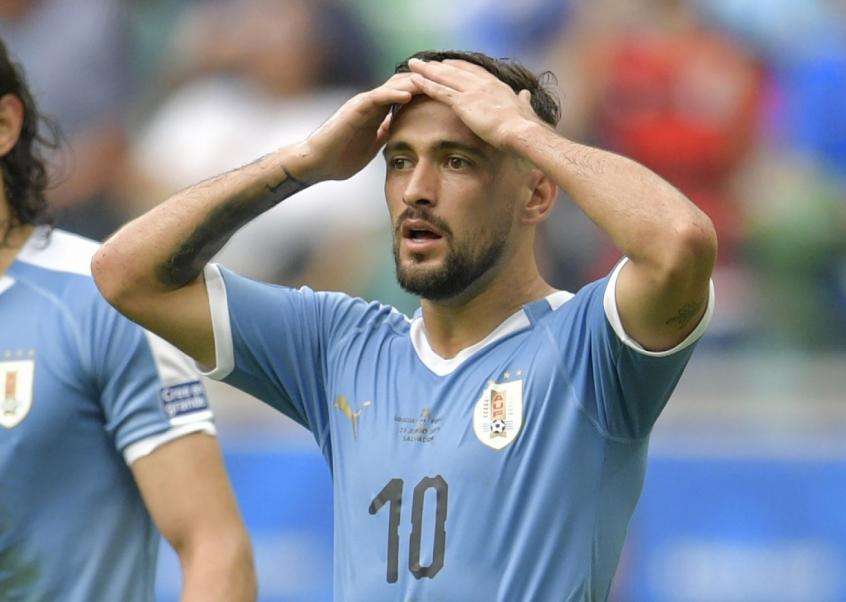 Arrascaeta em ação com a seleção do Uruguai - Foto: AFP