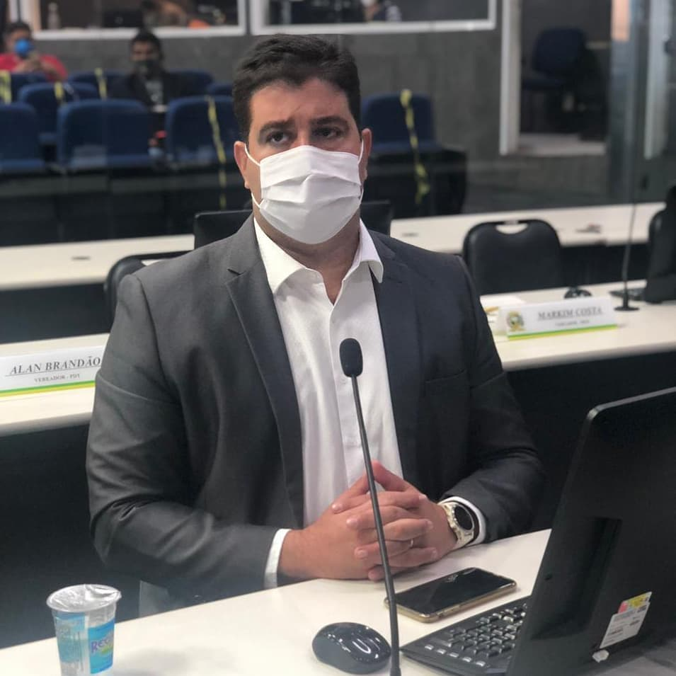 Vereador Luís André testou positivo para a Covid (Foto: Reprodução/Redes Sociais)