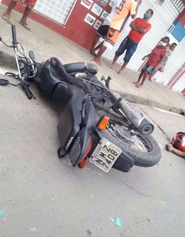 Moto com placa de Timon-MA era usada pelos criminosos - Foto: Reprodução