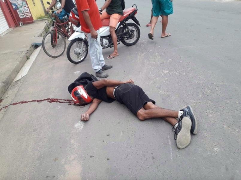 Acusado foi atingido com um disparo feito por uma pessoa ainda não identificada - Foto: Reprodução