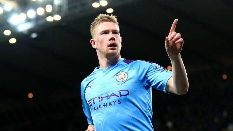 Bruyne do Manchester City se isolou como líder da competição- Foto: Getty Images