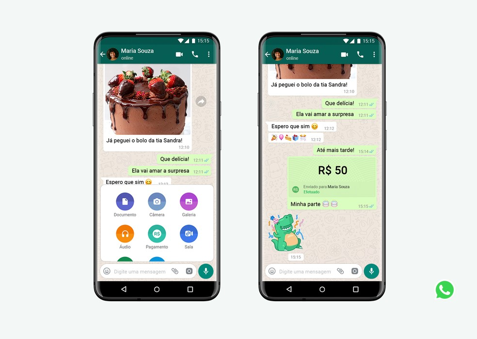 WhatsApp permite transferência de dinheiro entre usuários no Brasil | FOTO: Divulgação