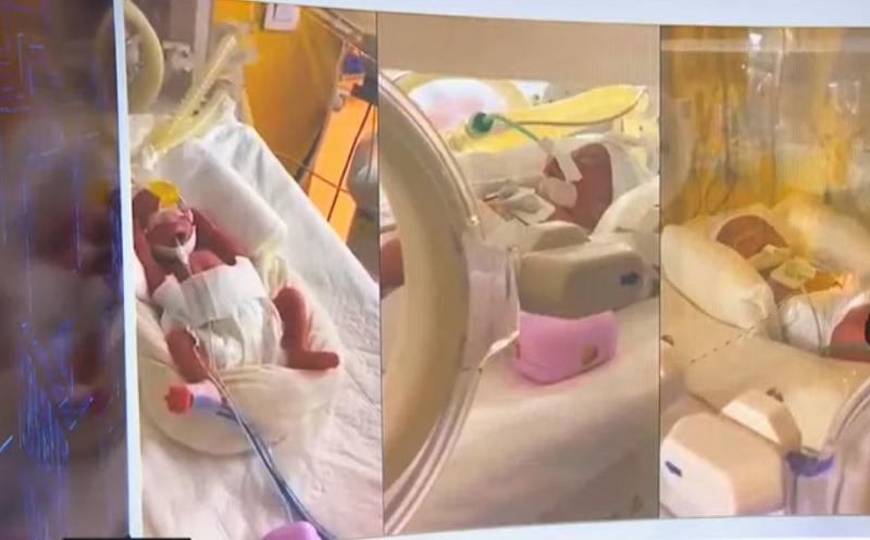 Todos os nove bebês estão berm- Imagem AFP